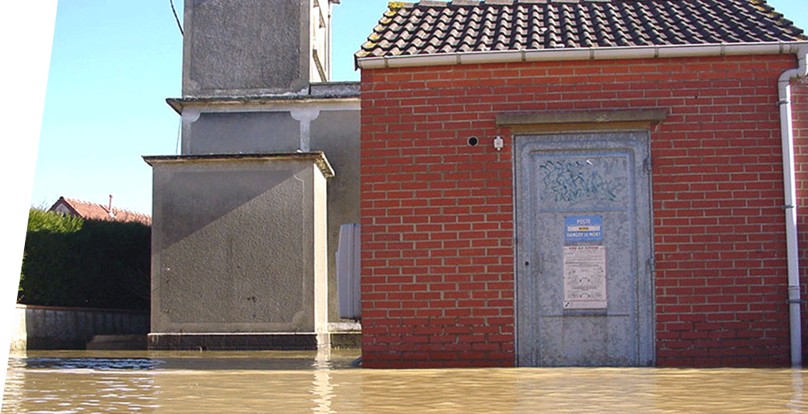 IoT sensor flood monitoring detection electrical installation